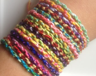 Knotted Friendship Bracelets- Tie On