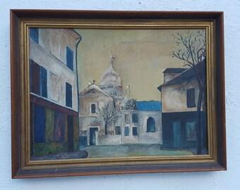 1964   Rodger  Moprisk  Rural Street Scene  Oil Painting .