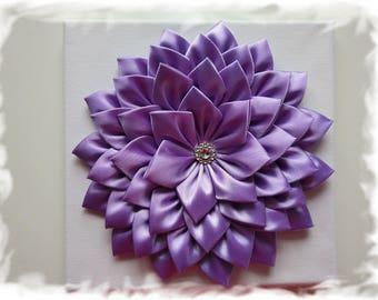 Handmade Kanzashi Flower Canvas