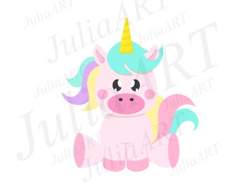 Cartoon cutе unicorn vector image