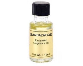 Sandalwood Oil - 10ml, Essential fragrance oil, Scent magick, Candle Dressing, Annointing oil, Aromatherapy, Warm earthy scent