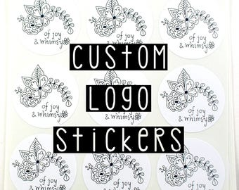 CUSTOM STICKERS or logo stickers for small business, wedding favors, branding, special events