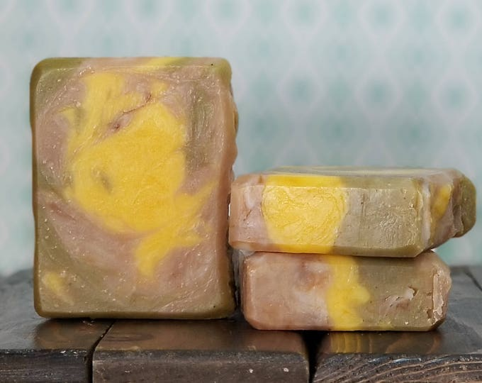 Kali's Conundrum Soap - Patchouli Orange Peppermint Soap -- All Natural, Handmade, Hot Process, Vegan Soap, Free Shipping
