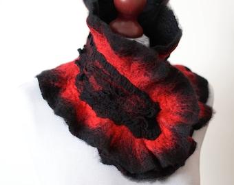 Felted collar, felted scarf, wool scarf, scarf, collar, feltmondo