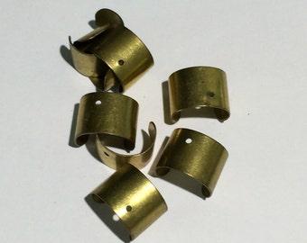 10 Brass Ear Cuffs w/ 1 hole, Cartilage Earring, 10mm