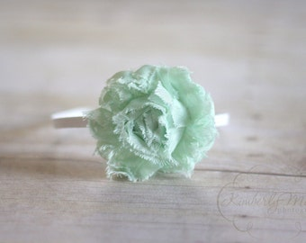 Mint Green Chiffon Rosette Flower Headband