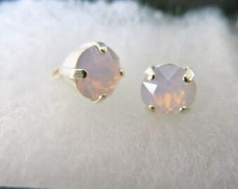 Bridesmaid Jewelry Weddings Pink Opal Earrings Studs Bridesmaid Earrings Bridal Earrings Bridesmaid Gift Bridal Jewelry Wedding Jewelry