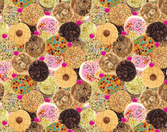 Euro import Chocolate chip cookies custom designed fabric for eurogirlsboutique