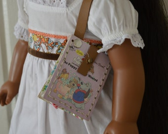 "The Puppy Nobody Wanted Book Purse for 18"" play dolls such as American Girl® Dolls"