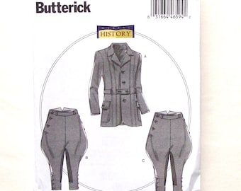 Butterick Men's  Riding Jacket, Breeches & Jodhpurs Pattern #B6340 - Size S(34-36), M(38-40, L(42-44) - UNCUT Factory Folded