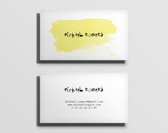 printable business card template, fully customized calling card template, business stationery, minimal typographic business card [04]