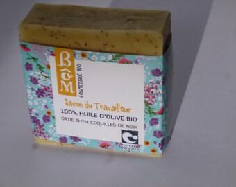 Organic BôM worker 100% olive oil SOAP