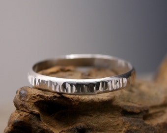 Sterling Silver Thumb Ring, Textured, Custom Order