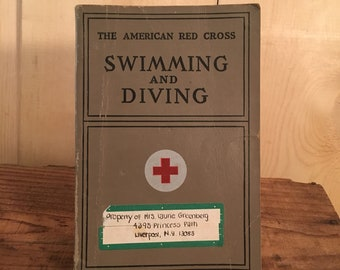 Swimming and Diving, 1938, The American Red Cross, Vintage Book