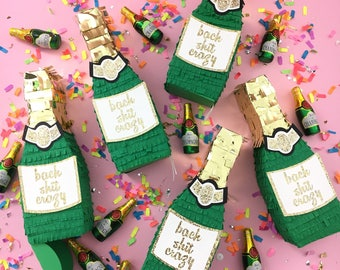 Champagne Pinata, Bridesmaid Proposal, New Years Eve, Party Favor, Gift Box, Bachelorette Party, Engagement Party, Wedding, ONE PIÑATA