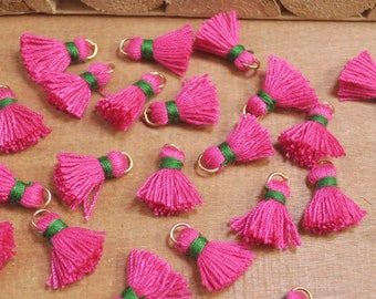 20pcs 15mm Mini Tassels,Light roseo,Short Boho tassels,earring,Small tassels Fringe Trim,DIY Craft Supplies,Jewelry tassels - FH26