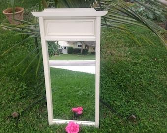 PAGODA STYLE MIRROR / Vintage Hollywood Regency Pagoda Mirror / Almost 4 Ft Tall Palm Beach Style On Sale Retro Daisy Girl