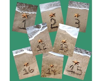 Sandwriting Table Numbers 1-20