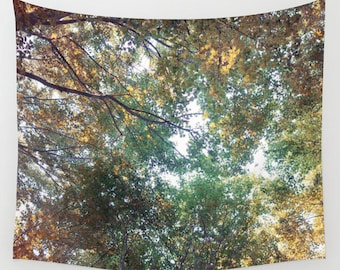 woodland wall tapestry, large size wall art, wall decor, photo tapestry, forest, nature, surreal, bohemian