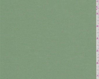 Dusty Green Stretch Poplin, Fabric By The Yard