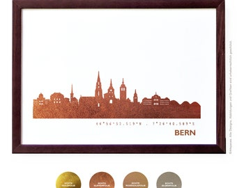 Bern Art Print, Bern Artwork, Bern Decor, Bern Poster, Bern Wall Art, Bern Skyline, Bern Gift, Wedding Gift,