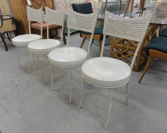 4 Faux Bamboo Metal Bistro Chairs
