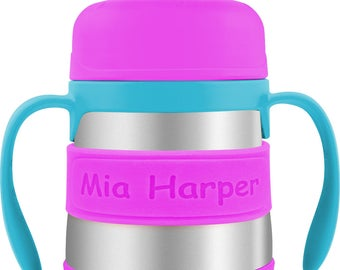 Personalized Baby Bottle Labels & Sippy Cup Labels (2 PACK)