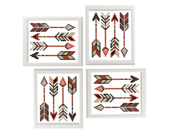 Arrows cross stitch pattern, Easy cross stitch, Modern cross stitch pattern, counted cross stitch