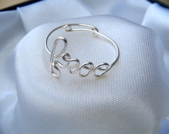 Silver Wire Free Ring Adjustable Dainty Ring