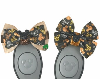 """Animal Mickey Dooney Magic Band Bow or Apple Watch Bow, 2"""" Mini Hair Bow, Planner Clip Bow - Disney Parks Collection"""