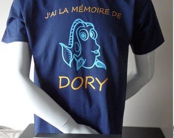 "Tee Men's shirt personalized ""my memory of Dory"", funny mens t-shirt"