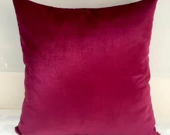 Fuchsia Velvet Pillow Cover Pillow Velvet Fuchsia Pillows Designer Pillows Velvet Pillows Velvet Cushion Covers Fuchsia Sofa Pillow Covers