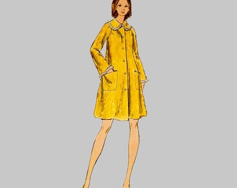 1970 Robe Sewing Pattern Butterick 6949 Flared style Raglan sleeves Duster, Housecoat Two lengths Long sleeves Size 16 bust 38 easy to sew