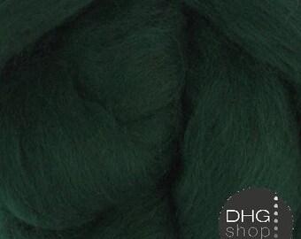 "Superfine merino, 19 microns,""Pine"" green roving, sliver, tops"