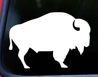 "BISON BUFFALO Vinyl Decal Sticker 5"" x 3.5"" Wisent Prairie Animal *Free Shipping*"