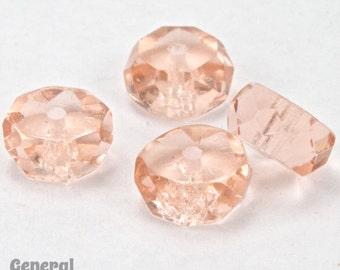 4mm x 8mm Transparent Rose Faceted Rondelle (12 Pcs)  #GCI010