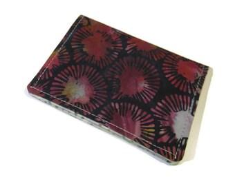 Gift card holder, Small Bi-fold wallet, Stocking stuffer, Credit card holder, Batik wallet, Business card holder, Fabric ID card wallet