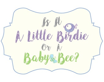 Gender Reveal - Birds and Bees
