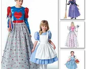 CHILD COSTUME PATTERN / Storybook Costumes / Dorothy of Oz - Alice in Wonderland - Queen of Hearts - Glinda Good Witch