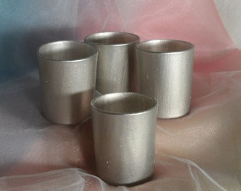 Champagne Silver Votive Candle Holders for Weddings, Party, Receptions 1 per order