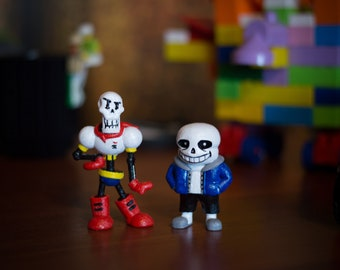 Papyrus and Sans the Skeletons Kit* Undertale game characters collectible figurines * Undertale Characters
