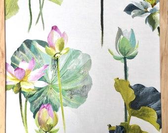 Decorative pillow cover in Fleur de Lotus Camelia , Designers Guild