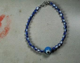 Pretty and Fun Blue Evil Eye Bracelet