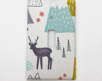 Forest Friends Light Switch Plate Cover / Outlet Cover / Bedroom / Home Decor / Baby Shower Gift / Nursery Decor / Kid's Room / Elk / Deer