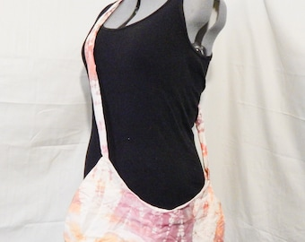 Large Cross-Body Tie-Dye  Purse Purple, Pink, Orange and Cream 100% upcycled