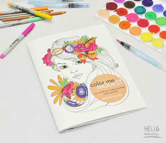 Color Me Modest Christian Inspirational Coloring Book Gifts For Her Teens Birthday Gift Present Modesty Clothing Fashion Illustration