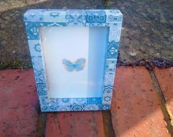 Decoupaged box frame