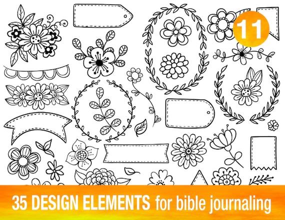 Very 35 PRINTABLE TEMPLATES for bible journaling verse art KB87