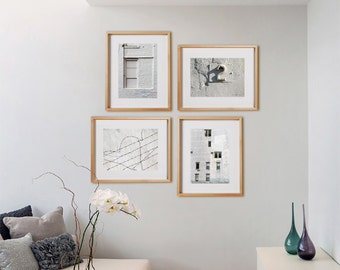 White 2V2H Print Collection.  Detail photography, urban, decor, wall art, artwork, large format photo.