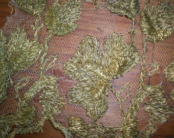 """12"""" metal and silk lace bronze"""